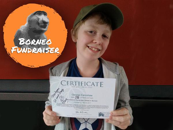 George Earnshaw with signed certificate. © Lesley Earnshaw