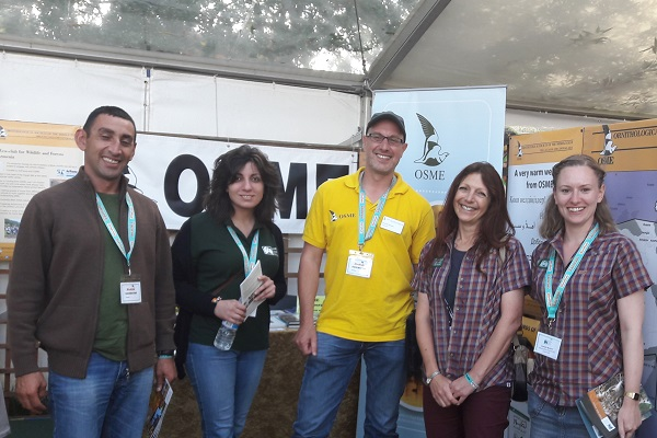 WLT partners and staff at Birdfair. © OSME.