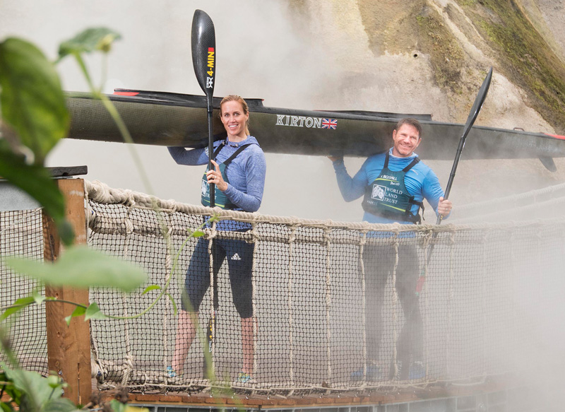 Steve and Helen Backshall at the Eden Project. © Emily Whitfield-Wicks