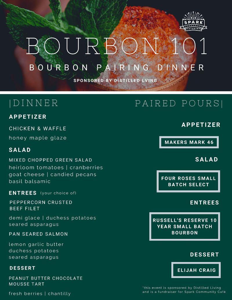 Spark Community Cafe Bourbon Dinner Feb 21 2020