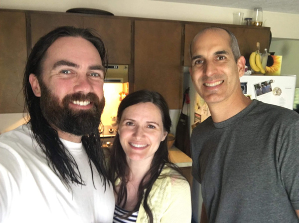 Jason and Rebeca Neumann with Daniel Mesa