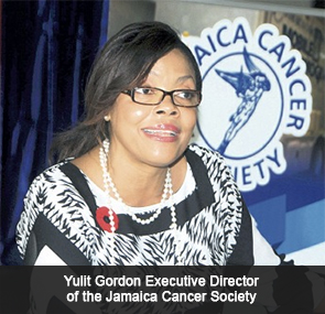 Executive Director of the Jamaica Cancer Society and one of the leading organisations in the Caribbean Cancer Alliance, Yulit Gordon