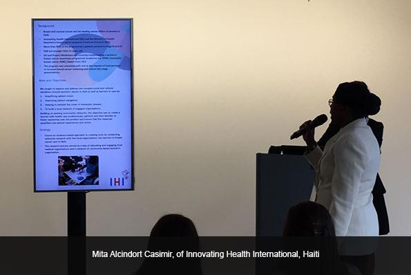 Mita Alcindort Casimir, of Innovating Health International, Haiti