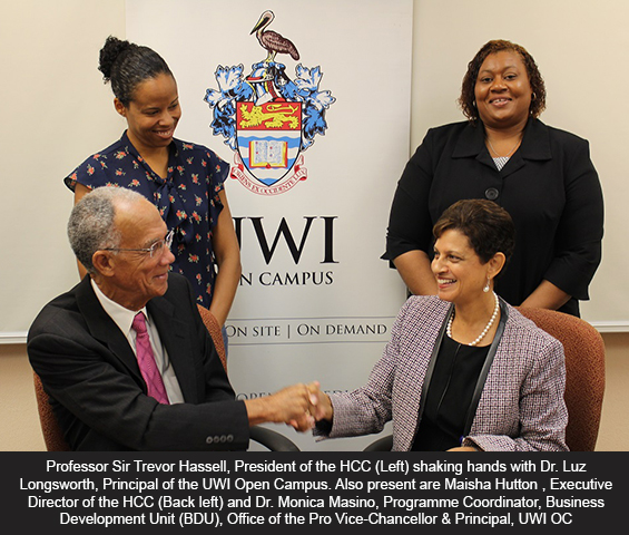 HCC signed an MOU with the University of the West Indies Open Campus (OC)