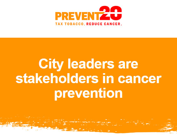 Encouraging Cities to Think About Tobacco Taxes as a Cancer Prevention Tool