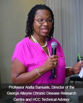 Professor Alafia Samuels, director of the George Alleyne Chronic Disease Research Centre