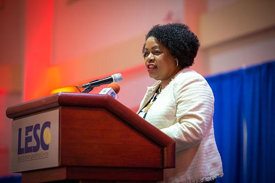 Minister of Education, Senator The Honourable Lucille Moe