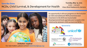 NCD Child's World Health Assembly side event