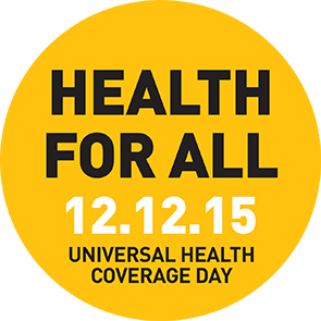Universal health Coverage Day 2015