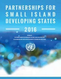 Partnerships on Small Island Developing States 2016