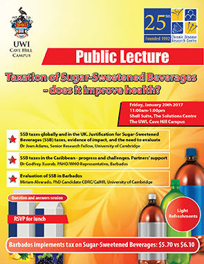 Public Lecture: Taxation of Sugar Sweetened Beverages - Does it Improve Health?
