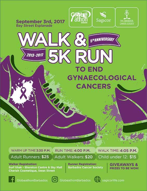 Globe-athon Barbados Walk & Run to End Gynaecological Cancers