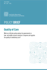 Policy Brief: Quality of Care