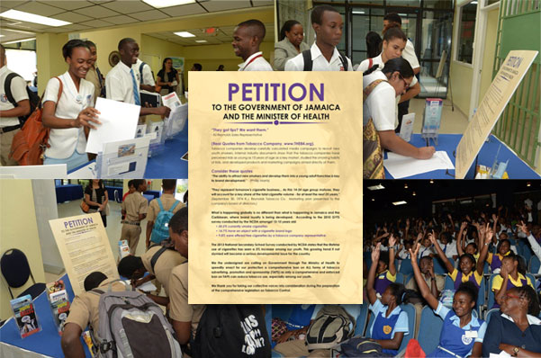 Jamaica Cancer Society (JCS) Tobacco Advertising Promotion & Sponsorship (TAPS) Petition Launched