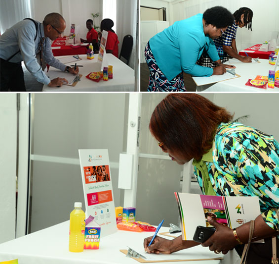Jamaicans sign the childhood obesity prevention call to action
