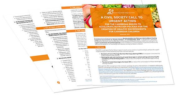 HCC Civil Society Call to Urgent Action