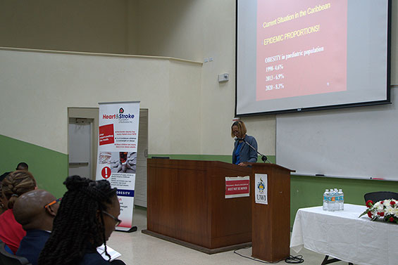 Prof. Anne St. John, Consultant Paediatrician and Director of the Heart & Stroke Foundation of Barbados