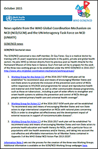 WHO Newsletter Briefing on Global Coordination Mechanism on NCDs