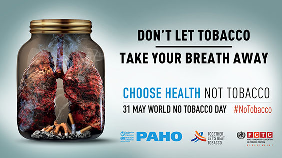 May 31, World No Tobacco Day 2019