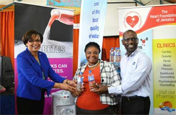 The Heart Foundation of Jamaica donated two water coolers to Seaward Primary School