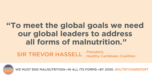 Professor Sir Trevor Hassell on Global Nutrition