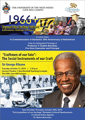"""Craftsmen of our fate"": The Social Instruments of our Craft - Sir George Alleyne"