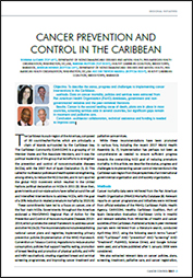 Cancer Prevention and Control in the Caribbean