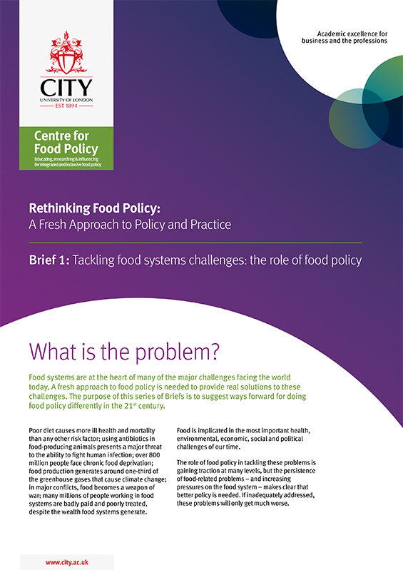 Tackling food systems challenges: the role of food policy