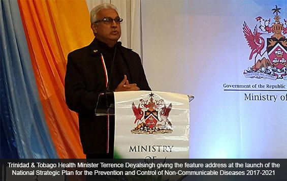 Trinidad & Tobago Health Minister Terrence Deyalsingh