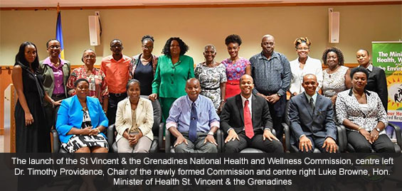 St. Vincent & the Grenadines launches NATIONAL HEALTH AND WELLNESS COMMISSION