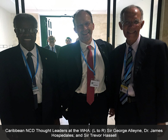 Three thought leaders at WHA