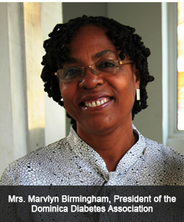 Mrs. Marvlyn Birmingham: President of the Dominica Diabetes Association