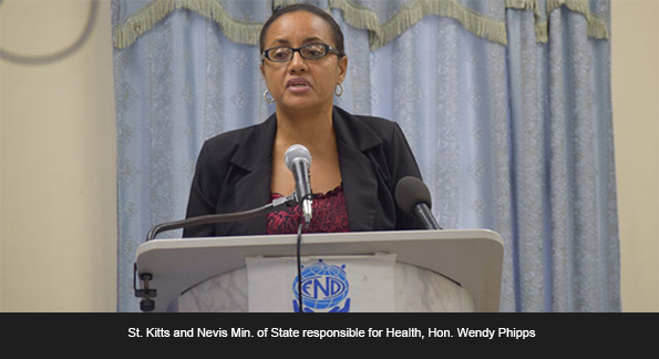 Min. of State responsible for Health, Hon. Wendy Phipps