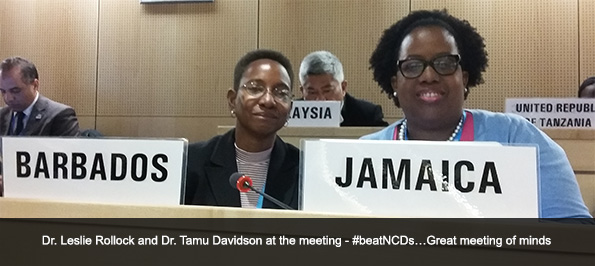 Dr. Leslie Rollock and Dr. Tamu Davidson at the meeting - #beatNCDs…Great meeting of minds