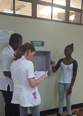Medical Students at the Queen Elizabeth Hospital Barbados