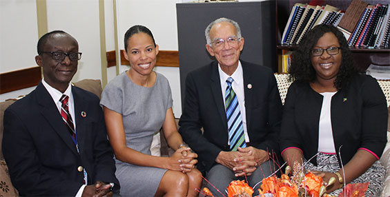 Courtesy Call to Hon. Minister in the Ministry of Public Health Dr. Karen Cummings