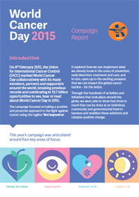 World Cancer Day 2015 Report