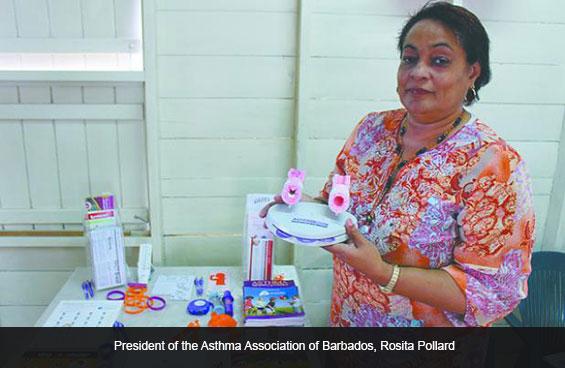 President of the Asthma Association of Barbados, Rosita Pollard