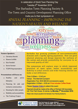 Symposium for World Town Planning Day - Planning for Health And Wellness In Barbados