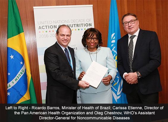 Brazil First Country to Make Specific Commitments in UN Decade of Action on Nutrition