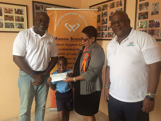 Almond Beach Resort Makes a Memorial Donation to Cancer Support Services