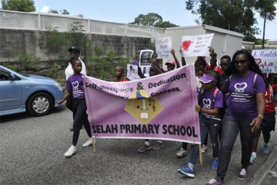 Students Walk to Spread NCD Awareness