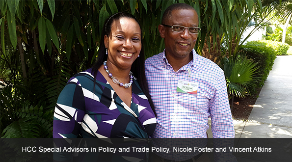 HCC Special Advisors in Policy and Trade Policy, Nicole Foster and Vincent Atkins