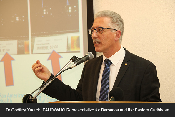 Dr Godfrey Xuereb, PAHO/WHO Representative for Barbados and the Eastern Caribbean