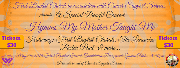 Special Benefit Concert – Hymms My Mother Taught Me Sunday May 8th