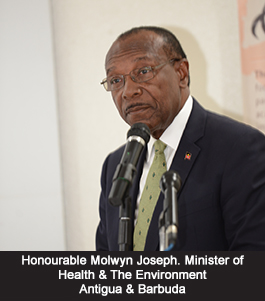 Honourable Molwyn Joseph. Minister of Health & The Environment Antigua & Barbuda