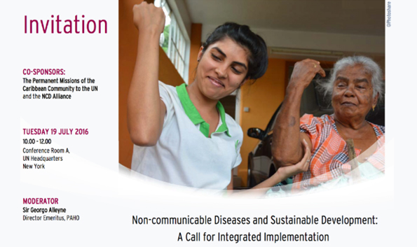 NCD HLPF 2016 Side Event: Integrated Implementation of SDGs