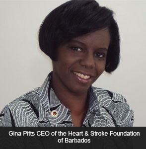 Gina Pitts CEO Heart & Stroke FOundation of Barbados