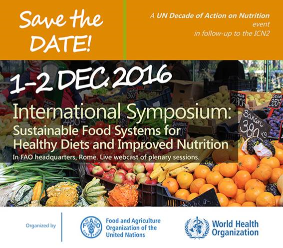 Sustainable Food Systems for Healthy Diets and Improved Nutrition