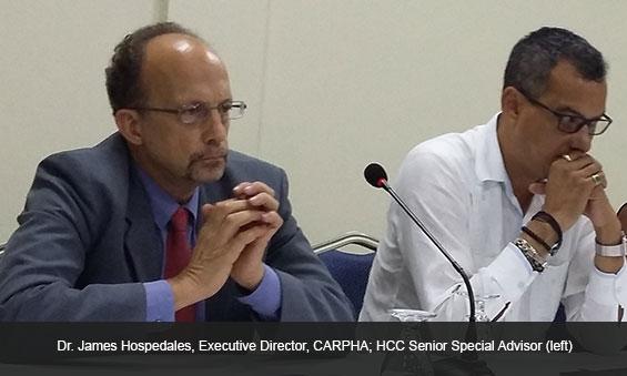 Dr. James Hospedales, Executive Director, CARPHA; HCC Senior Special Advisor
